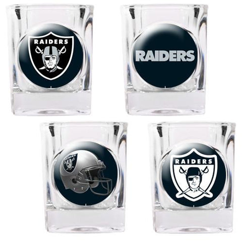 Oakland Raiders 4pc Collector's Shot Glass Set - Peazz.com