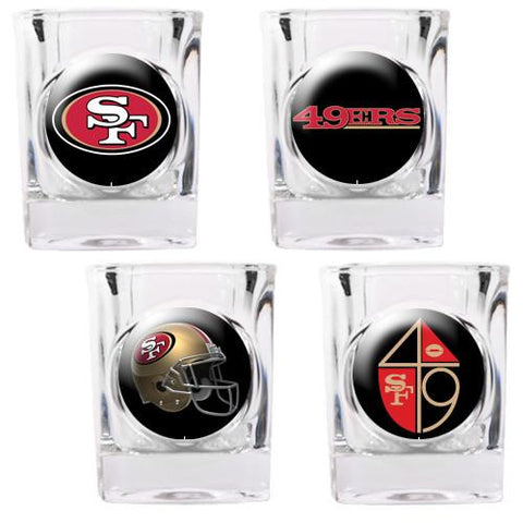 San Francisco 49Ers 4pc Collector's Shot Glass Set - Peazz.com