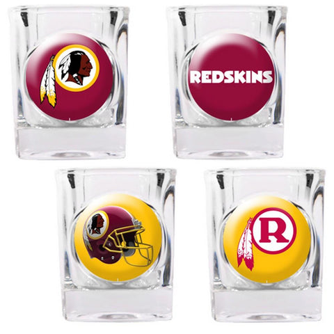 Washington Redskins 4pc Collector's Shot Glass Set - Peazz.com