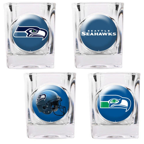 Seattle Seahawks 4pc Collector's Shot Glass Set - Peazz.com
