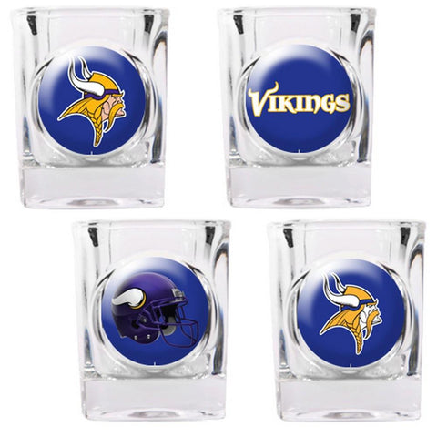 Minnesota Vikings 4pc Collector's Shot Glass Set - Peazz.com