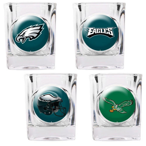 Philadelphia Eagles 4pc Collector's Shot Glass Set - Peazz.com