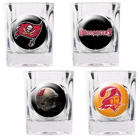Tampa Bay Bucaneers 4pc Collector's Shot Glass Set - Peazz.com
