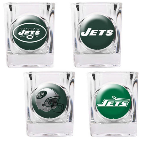 New York Jets 4pc Collector's Shot Glass Set - Peazz.com