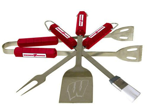 Wisconsin Badgers 4 Pc Bbq Set - Peazz.com