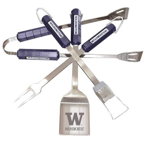 Washington Huskies 4 Pc Bbq Set - Peazz.com