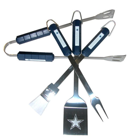 Dallas Cowboys 4 Piece Bbq Set - Peazz.com