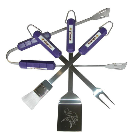 Minnesota Vikings 4 Piece Bbq Set - Peazz.com