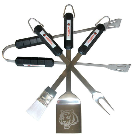 Cincinnati Bengals 4 Piece Bbq Set - Peazz.com