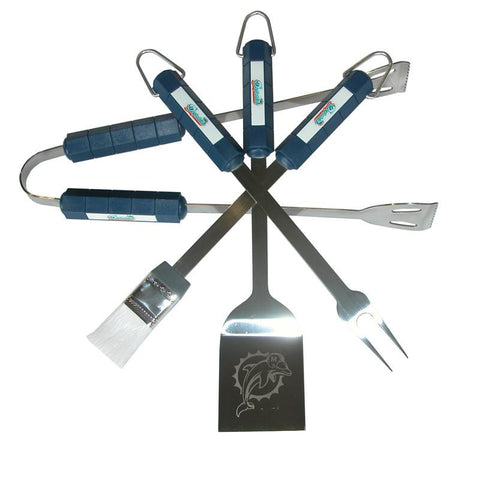 Miami Dolphins 4 Piece Bbq Set - Peazz.com