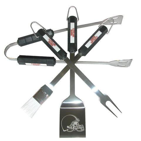 Cleveland Browns 4 Piece Bbq Set - Peazz.com