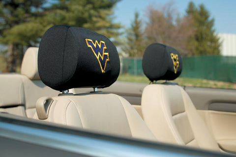 West Virginia Mountaineers Headrest Covers Set Of 2 - Peazz.com