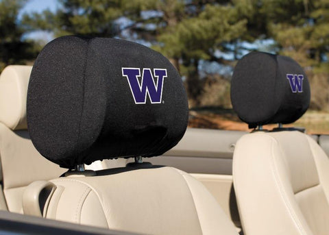 Washington Huskies Headrest Covers Set Of 2 - Peazz.com