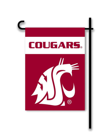Washington State Cougars 2-Sided Garden Flag - Peazz.com