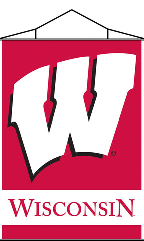 Wisconsin Badgers Indoor Banner Scroll - Peazz.com