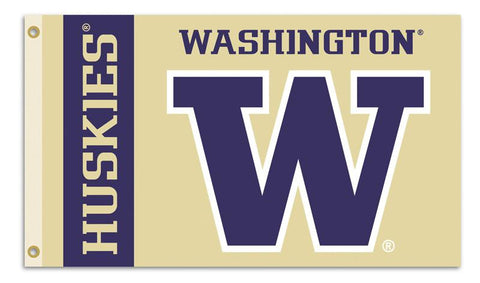 Washington Huskies 3 Ft. X 5 Ft. Flag W/Grommets - Peazz.com