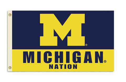 Michigan Wolverines 3 Ft. X 5 Ft. Flag W/Grommets - Peazz.com