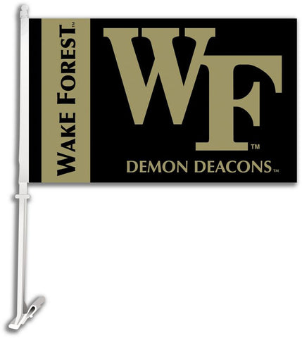 Wake Forest Car Flag W/Wall Brackett - Peazz.com