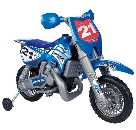 Feber Febercross SXC 6v Dirt Bike - Blue Feb-800003867 - Peazz.com