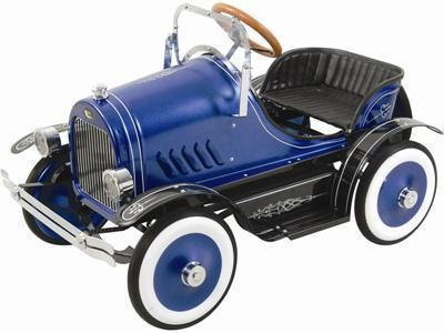 KALEE Deluxe Roadster Pedal Car Blue - Peazz.com