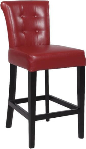"Chintaly 0295-BS 30"" Stationary Solid Birch Bar Stool - BarstoolDirect.com"