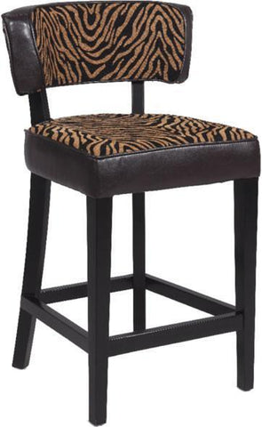 "Chintaly 0296-CS 30"" Stationary Solid Birch Counter Stool - BarstoolDirect.com"