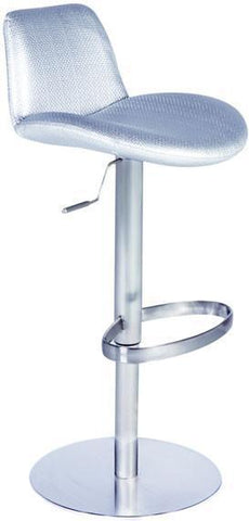 "Chintaly 0592-AS Pneumatic Gas Lift Adjustable Height Swivel Stool - 24"" - 33"" - BarstoolDirect.com"