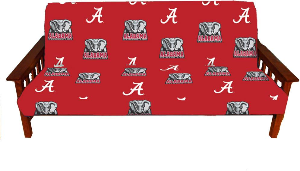 Alabama Futon Cover - Full Size fits 8 and 10 inch mats - ALAFC by College Covers