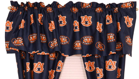 Auburn Printed Curtain Valance - 84 x 15 - AUBCVL by College Covers - Peazz.com