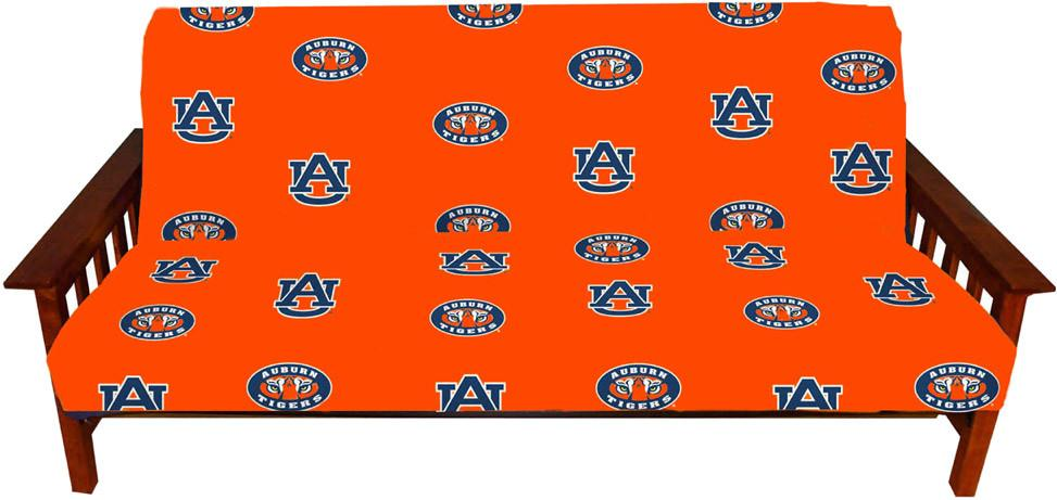 Auburn Futon Cover - Full Size fits 8 and 10 inch mats - AUBFC by College Covers