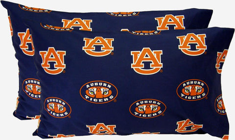 Auburn Printed Pillow Case - (Set of 2) - Solid - AUBPCSTPR by College Covers - Peazz.com