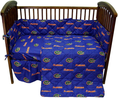 Florida 5 piece Baby Crib Set  - FLOCS by College Covers - Peazz.com