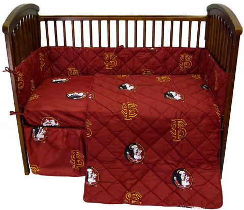 FSU 5 piece Baby Crib Set  - FSUCS by College Covers - Peazz.com