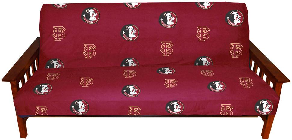 FSU Futon Cover - Full Size fits 8 and 10 inch mats - FSUFC by College Covers