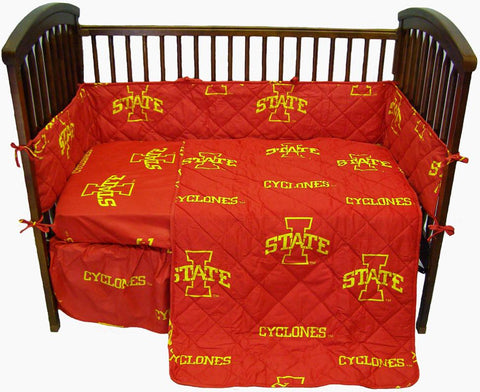 Iowa State 5 piece Baby Crib Set  - ISUCS by College Covers - Peazz.com