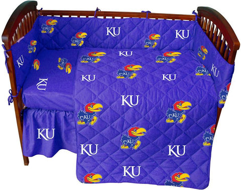 Kansas 5 piece Baby Crib Set  - KANCS by College Covers - Peazz.com