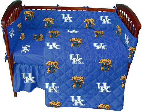 Kentucky 5 piece Baby Crib Set  - KENCS by College Covers - Peazz.com