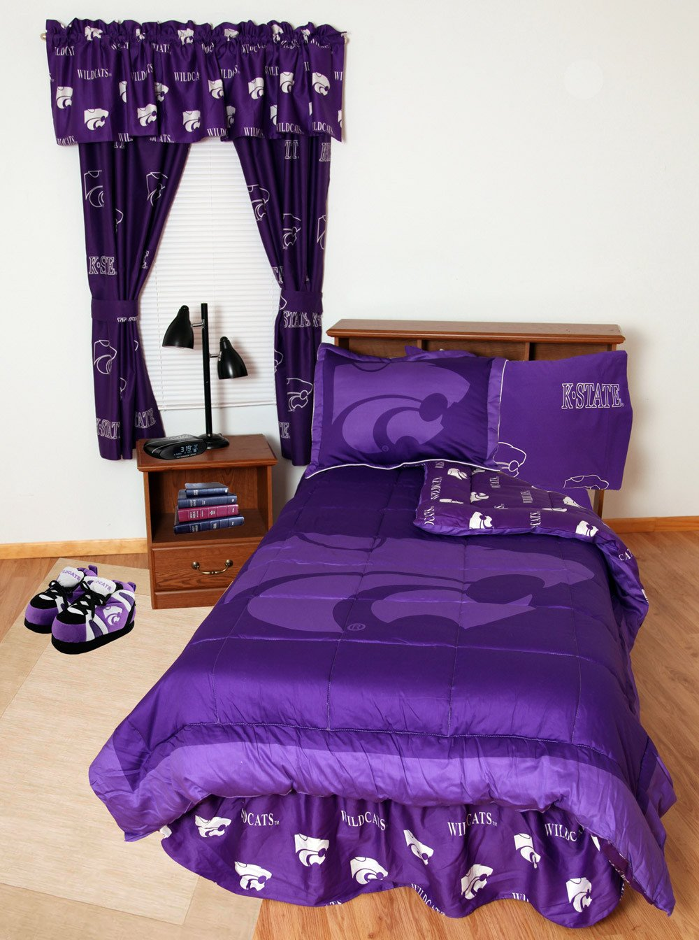 Kansas State Bed in a Bag King - With Team Colored Sheets - KSUBBKG by College Covers