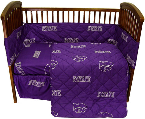 Kansas State 5 piece Baby Crib Set  - KSUCS by College Covers - Peazz.com