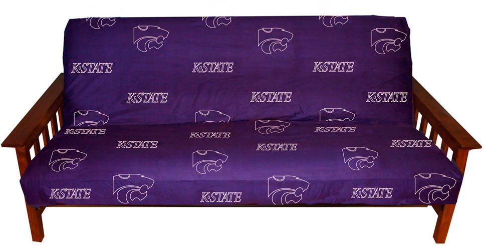 Kansas State Futon Cover - Full Size fits 8 and 10 inch mats - KSUFC by College Covers