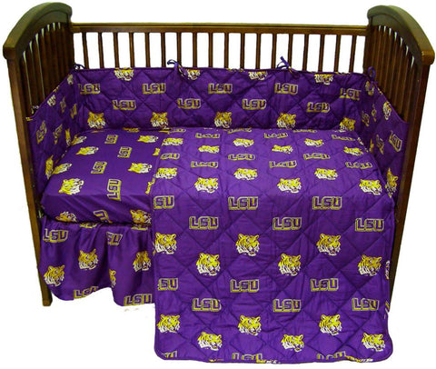 LSU 5 piece Baby Crib Set  - LSUCS by College Covers - Peazz.com