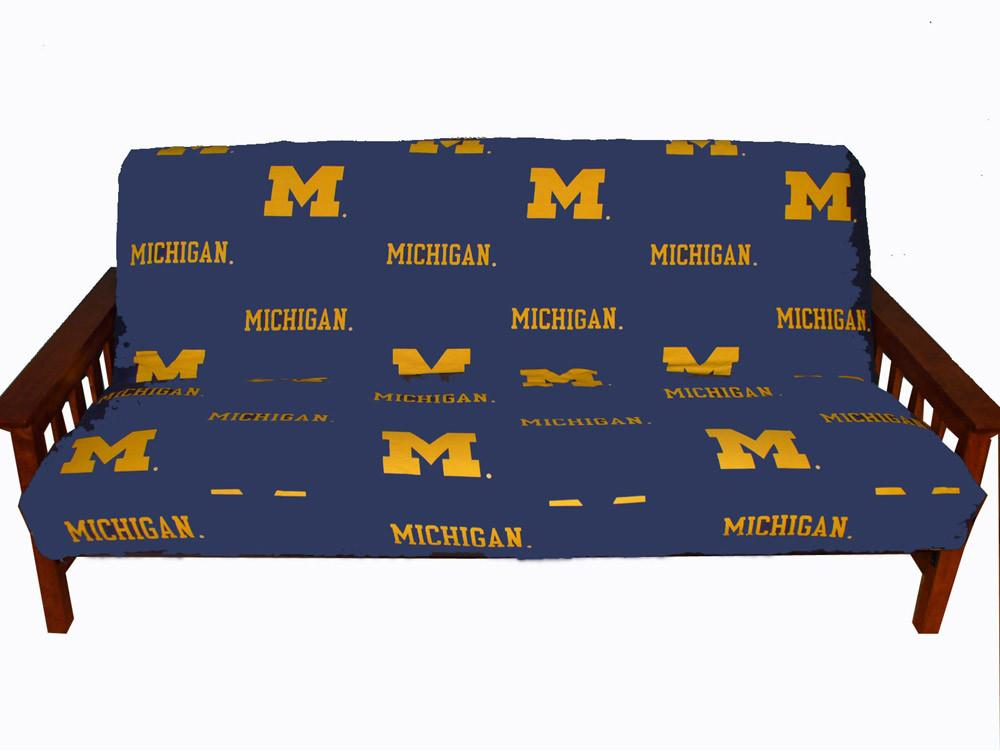 Michigan Futon Cover - Full Size fits 8 and 10 inch mats - MICFC by College Covers