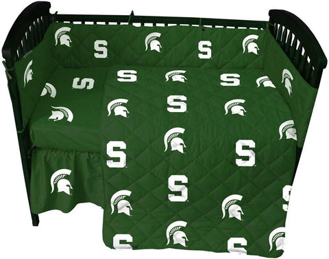 Michigan State 5 piece Baby Crib Set  - MSUCS by College Covers - Peazz.com