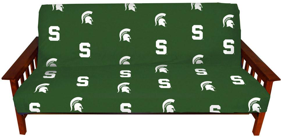 Michigan State Futon Cover - Full Size fits 8 and 10 inch mats - MSUFC by College Covers