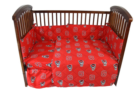 NC State 5 piece Baby Crib Set  - NCSCS by College Covers - Peazz.com
