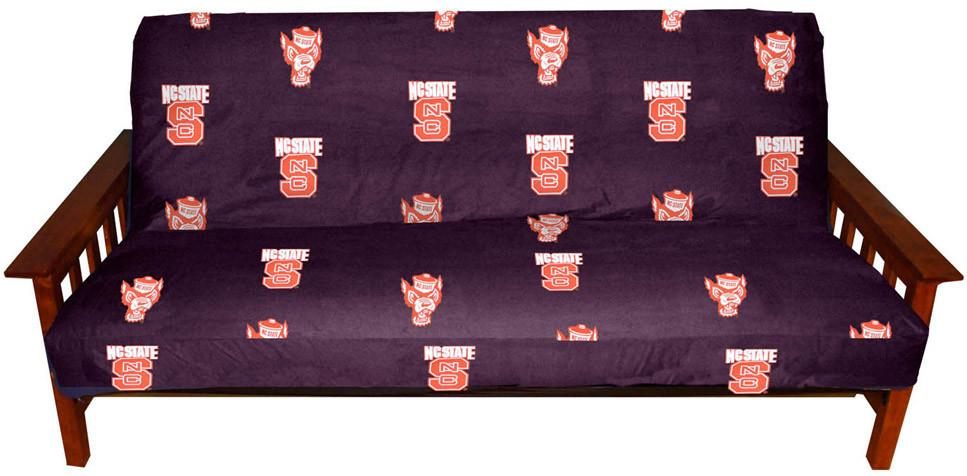 NC State Futon Cover - Full Size fits 8 and 10 inch mats - NCSFC by College Covers