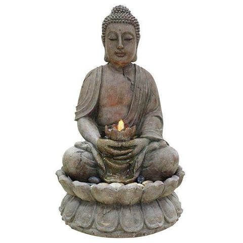 Alpine GEM122 Buddha Water Feature - Peazz.com