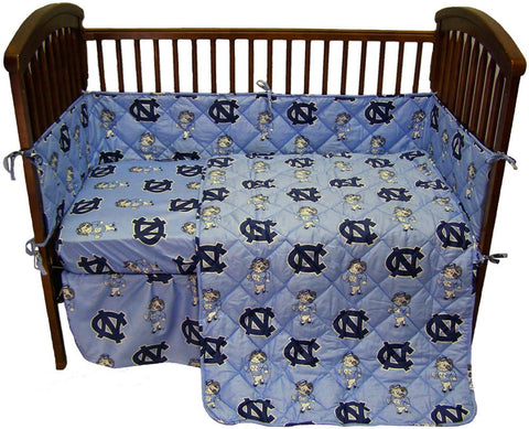 UNC 5 piece Baby Crib Set  - NCUCS by College Covers - Peazz.com