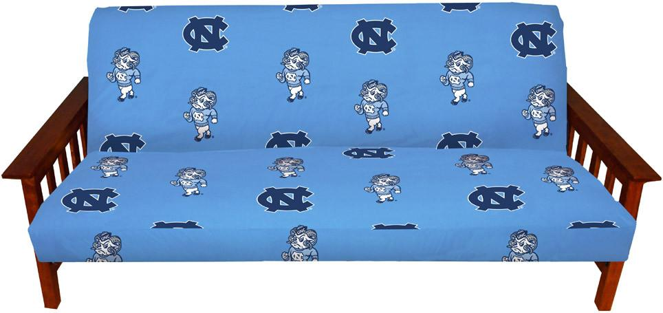 UNC Futon Cover - Full Size fits 8 and 10 inch mats - NCUFC by College Covers