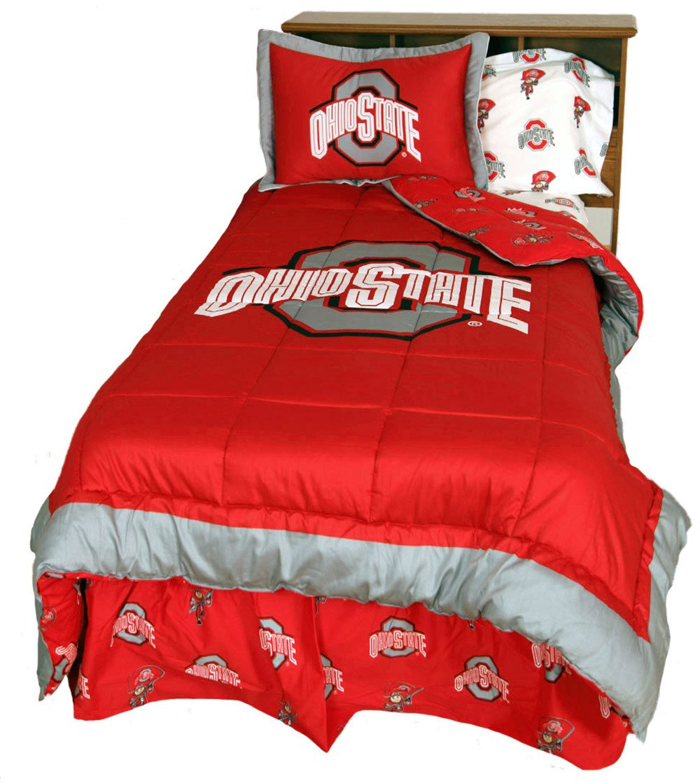 Reversible | Comforter | College | Cover | State | Ohio | Twin | Set